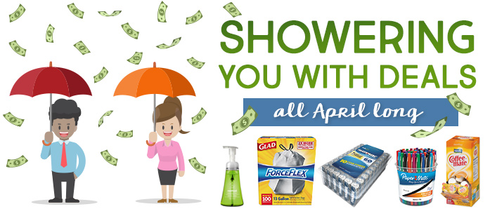 OfficeZilla is showering you with deals on office supplies and essentials all April long!