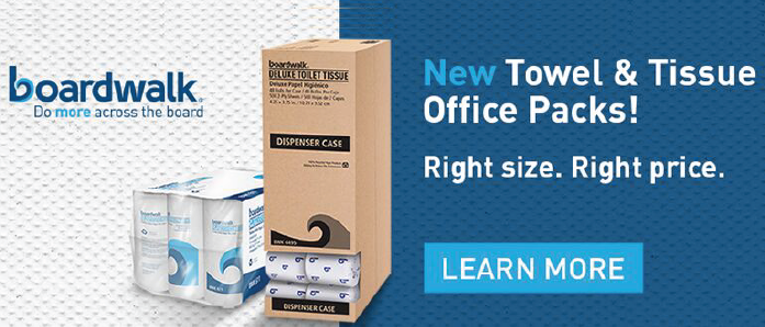 "Get your ""right size"" Boardwalk Towel and Tissue office packs at OfficeZilla.com!"