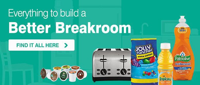 Build up your breakroom with our help at OfficeZilla.com!