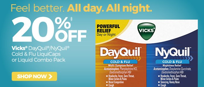 Save at OfficeZilla.com on Vicks® DayQuil and NyQuil products!