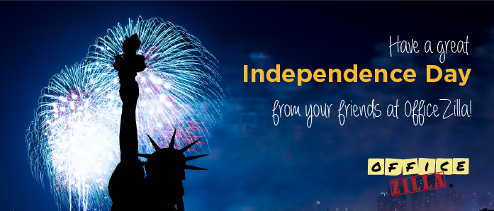 Happy Independence Day from OfficeZilla!