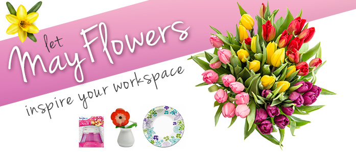 Let May Flowers inspire your workspace!