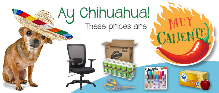 Ay Chihuahua! These prices on office supplies at OfficeZilla.com are muy caliente!