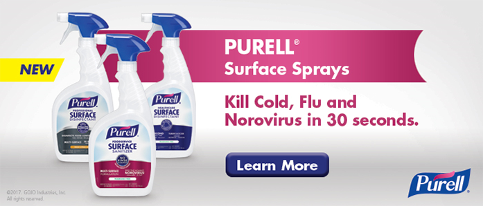 Kill cold, flu, and norovirus in 30 seconds with Purell Surface Sprays at OfficeZilla.com!