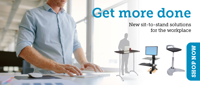 Sit to Stand Solutions from OfficeZilla make your ergonomic office a snap!